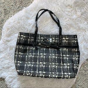 Kate Spade checkered shoulder bag purse black